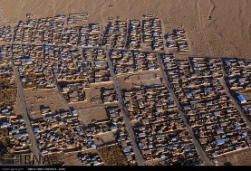 In Pictures: Aerial image of Adobe huts in Hejdahak Kerman after earthquake