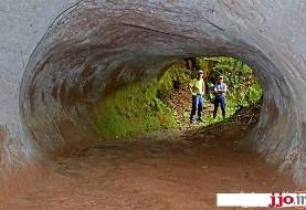 عکس تونلهای عظیم و عجیب آمریکای جنوبی که تنبل های ماقبل تاریخ آنها را حفر کردهاند!