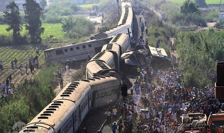 (تصاویر) تصادف مرگبار دو قطار در اسکندریه مصر: ۱۶۰ کشته و زخمی