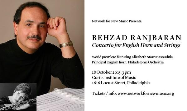 اجرای اثر جدید بهزاد رنجبران توسط ارکستر بزرگ کلاسیک فیلادلفیا
