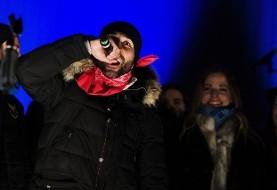 رپخوانی بازیکن تیمملی ایران در پارتی بزرگ شهر استروندس سوئد +عکس