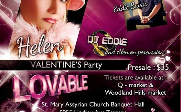 Valentine's Party with Helen, Eddie Savar, DJ Eddie