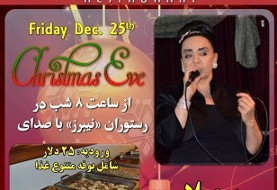 Christmas ۲۰۱۵ Persian Celebration with Soheila, Full Iranian Dinner Buffet
