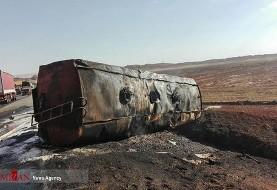 (تصاویر) انفجار تانکر سوخت در سبزوار: سه نفر کشته و مجروح