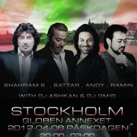 Andy, Sattar, Shahram Solati and Ramin in Concert