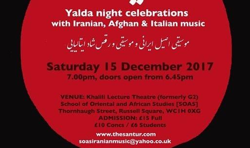 Yalda Night Persian and Italian Concert