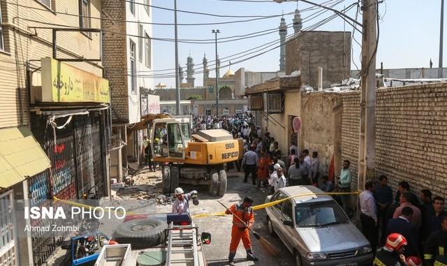 انفجار مهیب در ساختمانی نزدیک به حرم حضرت معصومه در قم: ۱۹ کشته و مجروح