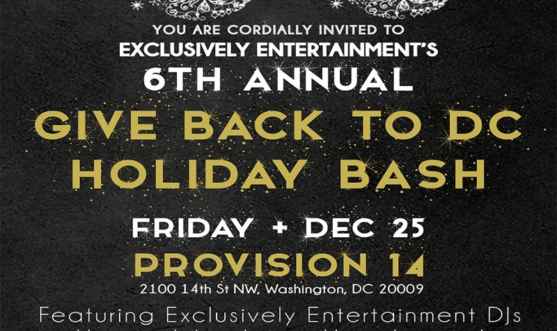 EE's 6th Annual Give Back To DC Holiday Bash