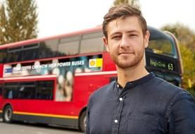 هوای لندن پاکتر میشود: به همت یک جوان مبتکر انگلیسی، اتوبوسهای لندن قهوه سوز می شوند