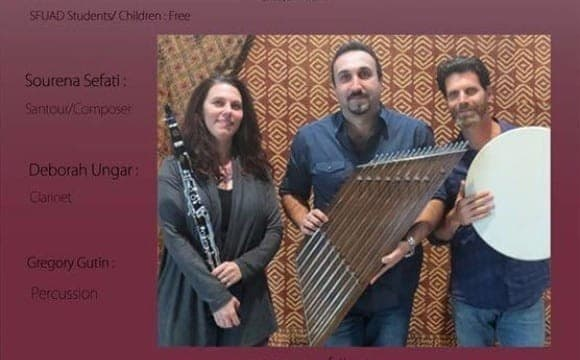Alborz Trio: The Sound of Peace, Persian music concert