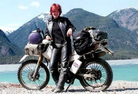 Female British biker on Iranian roads