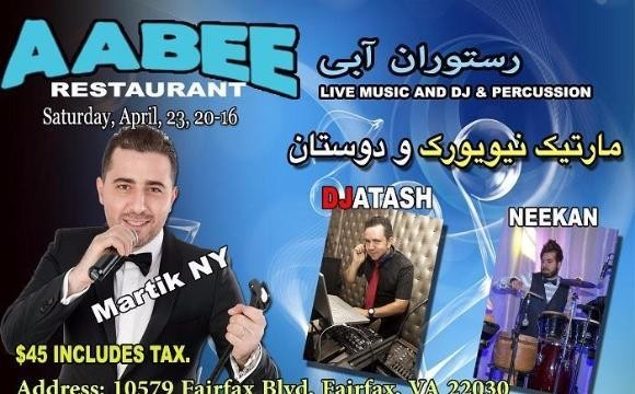 Persian Dance night at AABEE Restaurant, Includes Persian Buffet