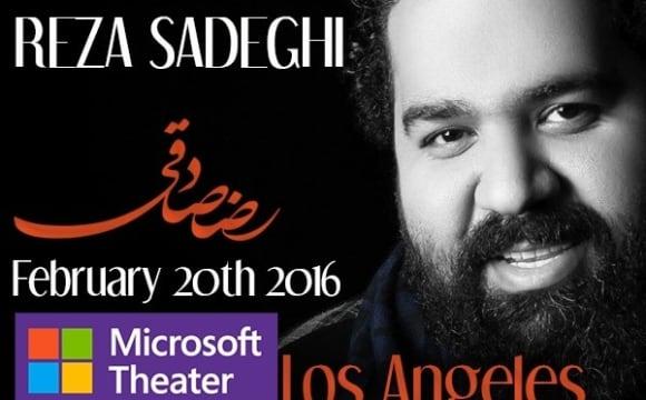 کنسرت رضا صادقی برای اولین بار در لس آنجلس