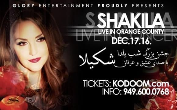 Shakila Live, Yalda Concert and Dinner