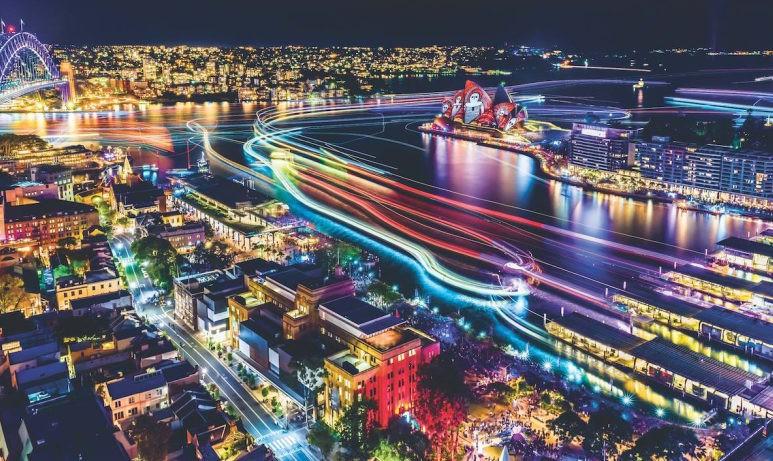 به روایت تصویر: فستیوال نور، رنگ و شادی در سیدنی