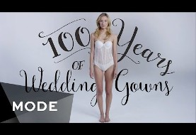 100 Years of Western Wedding Dresses in 3 Minutes