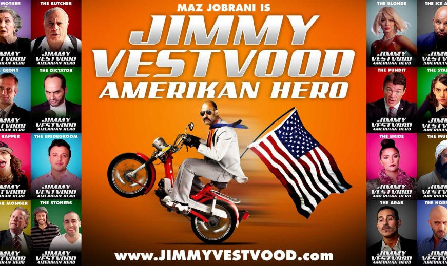 فیلم جدید کمدی ماز جبرانی: جیمی وستوود، قهرمان ایرانی آمریکا (به انگلیسی)