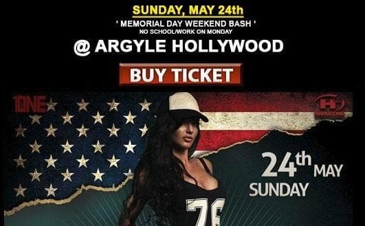 Memorial Day Weekend Party in Los Angeles