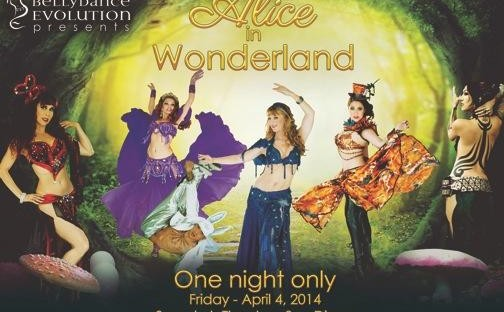 Bellydance Evolution's Alice in wonderland: Theatrical world-fusion dance