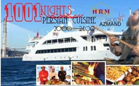 پارتی و غذای ایرانی با موسیقی صادق آزمند روی کشتی