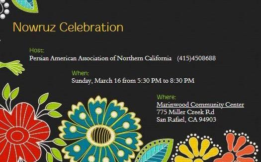 جشن نوروزی انجمن ایرانیان شمال کالیفرنیا
