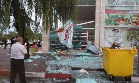 فیلمی از اولین خسارت طوفان امروز تهران