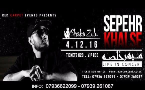 Sepehr Khalse Live In Concert in London