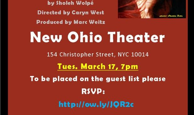 Shame  a play by Sholeh Wolpe, (Staged Reading), directed by Caryn West
