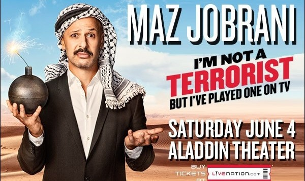 Maz Jobrani Stand up Comedy in Portland: I'm Not A Terrorist, but I've Played One on TV