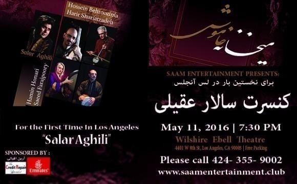 Salar Aghili Concert in LOS ANGELES: Meikhaneh Khamoosh