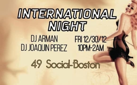 International Night with DJ Arman and Dj J Perez