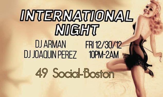 International Night with DJ Arman and Dj J Perez