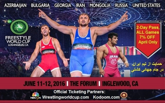 Special Tickets for Iranian Americans: World Cup of Freestyle Wrestling in Los Angeles