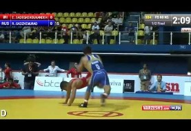 Incredible wrestling technique by Iranian wrestler