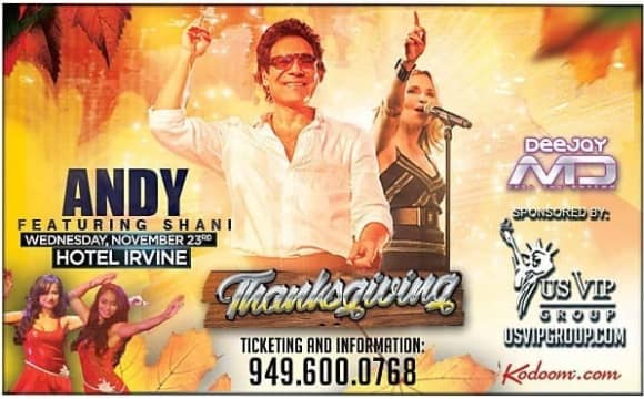 Andy Live in Orange County, Thanksgiving Concert