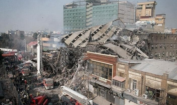 In Pictures: Tehran's Old Trade Center Tower Collapses ...