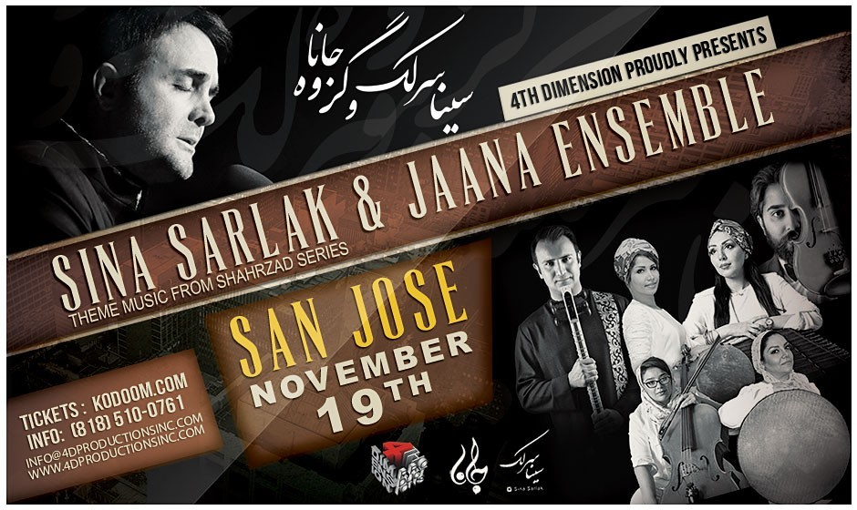 Sina Sarlak & Jaana Ensemble Live in Bay Area