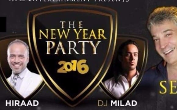 Serjik at 2016 New Year's Eve Celebration, Dinner and Music by Hiraad and DJ Milad