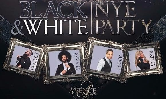 Black and White NYE Party with DJ Aras, and Free Champagne Toast