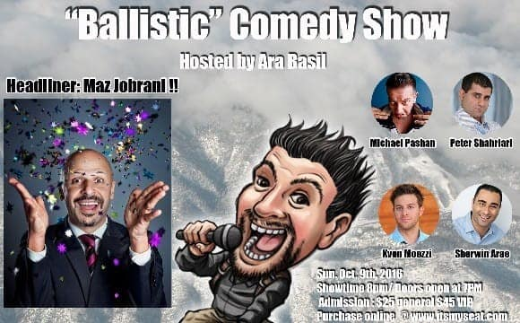 Maz Jobrani Live, With K-Von, Peter Shahriari and others