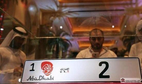 تاجر عرب ۳ میلیون دلار برای خرید پلاک ماشین (عدد ۲) داد! عکس
