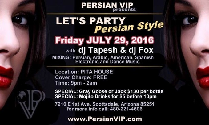 Persian Summer Party at Pita House with  DJ Tapesh and DJ Fox