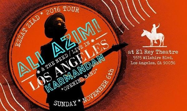کنسرت بزرگ علی عظیمی در لس آنجلس همراه گروه کارمندان: تور عزت زیاد