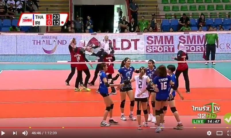 مشکل کم نفسی یا گرمازدگی؟ والیبال محجبه بانوان ایران باز هم در هوای گرم تایلند علیرغم بازی خوب در  انتخابی زنان جهان شکست خورد