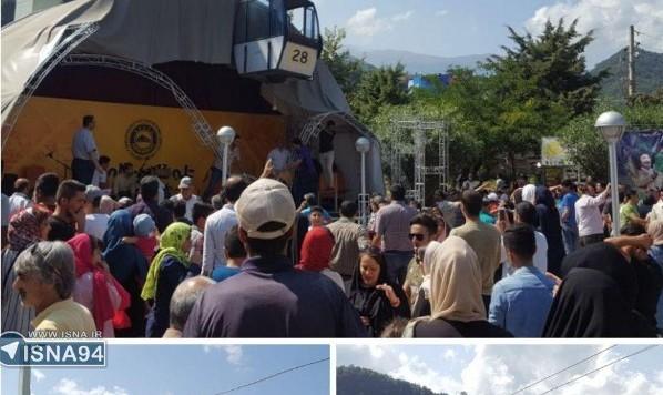 عکس مصدومیت ۷ نفر بر اثر سقوط دو کابین تله کابین رامسر (شایعه مرگ ۲ نفر)