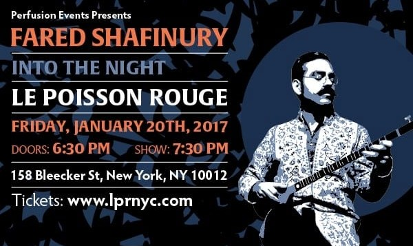 Fared Shafinury: Into The Night, Album Release Concert