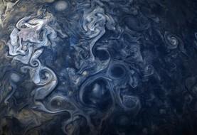 عکس جدید جونو از زیباییهای سیاره مشتری: شبیه به نقاشی ونگوگ