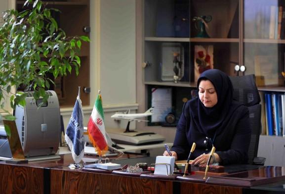 برای اولین بار سکّان هواپیمایی ملی ایران به یک خانم واگذار شد