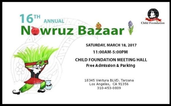 NEW DATE: Annual Nowruz Bazaar By Child Foundation