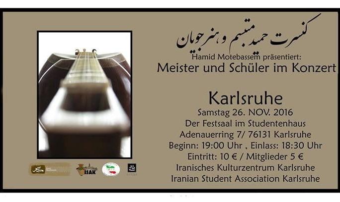 Hamid Motebassem: Meister und Schüler im Konzert